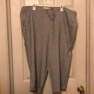 NWOT, Super cute blue stripped Capri pants 2X